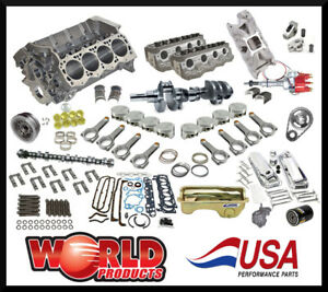 363 Ford Street strip Performance Engine Package World Products Block Bmp Heads