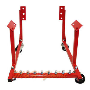 1000 Lb Auto Car Engine Cradle Stand Chevy Chrysler V8 With Wheels Dolly