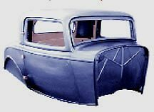 Ford 3 W Three Window Coupe All Steel Unassembled Body 32 1932