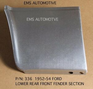 Ford Car Lower Rear Of Fender Patch Panel Left 1952 1954 336l Ems