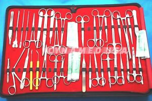 97 Pc Minor Micro Surgery Surgical Veterinary Dental Instruments Student Set Kit