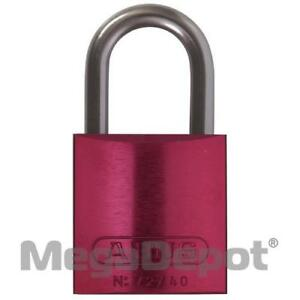 Abus 72 40 Kd Red 09578 72 Series Red Aluminum Padlock Keyed Different