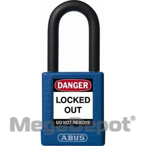 Abus 74 40 Mk Blue 74 Series Non conductive Safety Padlock Master Keyed Blue