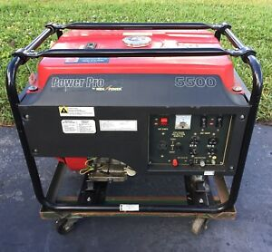 Power Pro 13 Hp Generator Wen Power Model 5500 With Cart