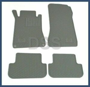 Genuine Mercedes Clk Factory Oem Rubber Floor Mats 03 09 Grey All Weather Benz