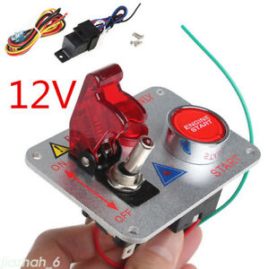 12v Car Engine Start Push Button Switch Ignition Starter Kit Red Led Switch