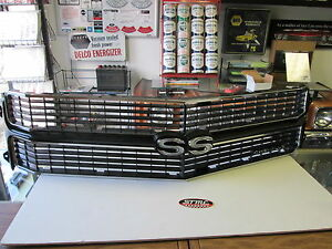 1970 70 Chevelle El Camino New Black Ss Grill Complete Grill Kit