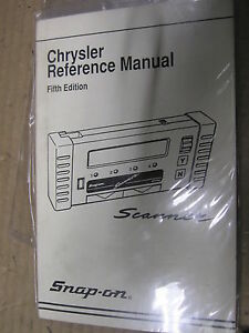 Snap On Scanner User Manual Chrysler Reference Manual 5th Edition