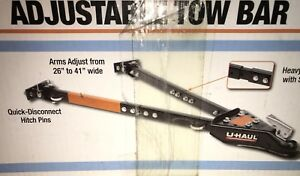 Uhaul Tow Bar Adjustable 2 piece Adjustment Arms Heavy Duty 5000 Lbs