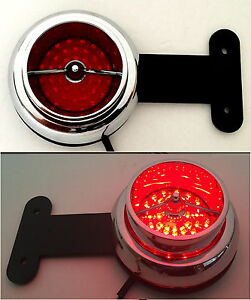 Ford Truck Red Led Taillights Hot Rod Stake Pocket Stepside Pickup Custom 63ss