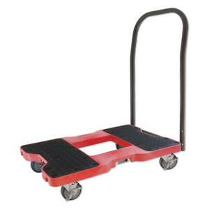 Push Cart Dolly Red 1500 Lb Capacity Heavy Duty 4 Locking Wheels Moving Supplies