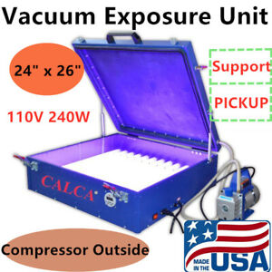 Usa 110v 24 X26 Vacuum Exposure Unit Precise Screen Printing With Compress
