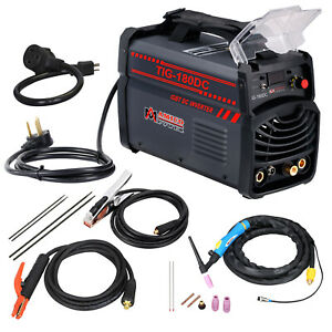 Tig 180dc 180 Amp Tig Torch Stick Arc Dc Inverter Welder 110 220v Weldin