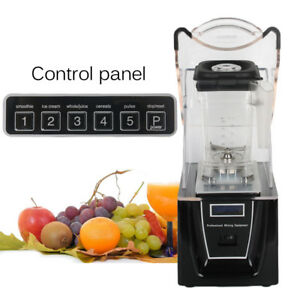 Soundproof Cover Blender Mixer Juicer Commercial Heavy Duty Smoothie Blender New