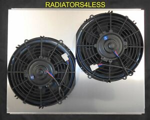 New All Aluminum Radiator Fan Shroud W 10 Fans 67 68 69 Chevy Camaro 23 Core