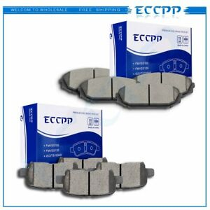 Front And Rear Ceramic Brake Discs Pads Fits 2002 2003 2004 Honda Odyssey Ex Lx