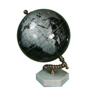 Globe With Marble Base 11 H Vintage Globe Globe With Metal Stand Maps T