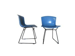 Harry Bertoia For Knoll Fiberglass Side Chairs 1963 Eames Mid Century