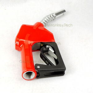 Zinc Alloy 11a 3 4 15 16 automatic Fueling Nozzle Gas Diesel Biodiesel Red