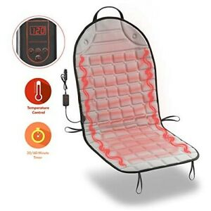 Zone Tech Heated Back Massage Chair Cushion Car Seat Home Pad Pain Spine Neck