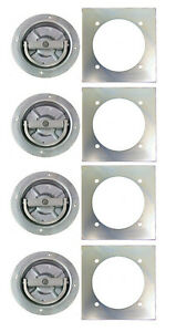 4 Recessed Full 360 Swivel 6000 Rated D Ring Tie Down W Backing Plate Trailer