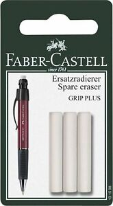 Faber castell Spare Eraser For Grip Plus Pencil Pack Of 3