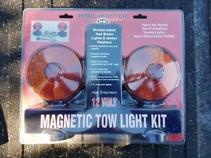 Haul Master Magnetic Tow Lights New 12volt Double Sided Brake Light