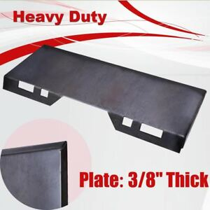 Hd 3 8 Quick Tach Attachment Mount Plate Skid Steer Bobcat Kubota Trailer Hitch