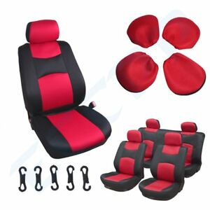 Universal Red Black New Car Seat Covers W Headrest Covers For Porsche