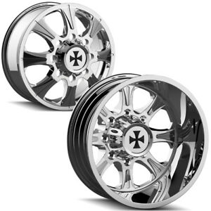 Set Of 6 Cali Offroad Brutal Dually 20 8x6 5 Chrome Wheels Rims Lugs Included