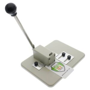 Heavy Duty Table Desk Top Slot Punch For Id Card Badges With Adjustable Guides