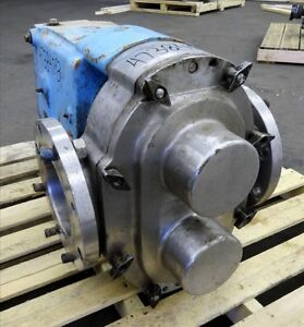 Waukesha 6 Rotary Positive Displacement Pump Model 320 Stainless 47384093