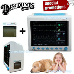 Vet Veterinary Pet Use Patient Monitor Multiparameter Icu big Screen printer Usa