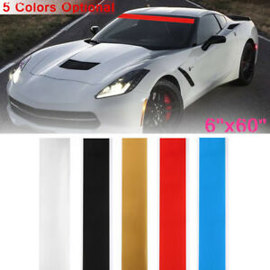 6 X60 Car Vinyl Windshield Decal Strip Racing Stripe Sticker Window Visor Decor