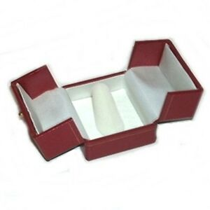 Lot Of 24 Red Double Door Ring Finger Jewelry Display Packaging Gift Boxes