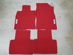 New Genuine Honda Red Hfp Carpet Mats 2017 2018 Civic 2 Door Si 08p15 tbj 110a