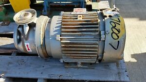 Goulds 4stk2 Centrifugal Pump Size 1 1 4 X 2 6 Stainless Steel W 7 5hp Motor