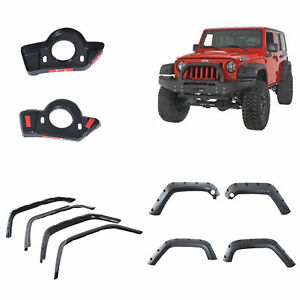 Homcom Jeep Wrangler Jk 10pcs Fender Flares Pocket Rivet Style Wheel Cover