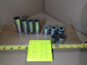 Snap on Sockets Lot Of 9 Pieces Set 3 8 Drive 6 12 Point Vintage Snap On
