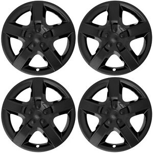 4pc Set Fits 17 Inch Black 5 Spoke Hub Cap Rim Steel Wheel Skin Lug Full Cover