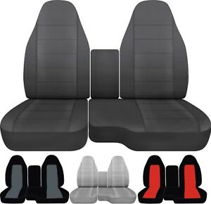 Fits 04 12 Ford Ranger Car truck Seat Covers Front 60 40 With Center Console