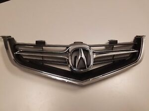 Fits Acura Tsx 2004 2005 Grille Grill W Chrome Molding W Oem Emblem