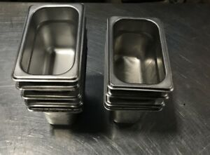Lot Of 10 Don 1 9 Size 4 Steam Table Pans