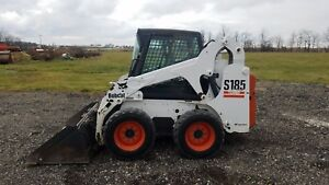 2005 Bobcat S185 Skid Steer Loader Cab W Heat Sticks And Pedals 2 509 Hours