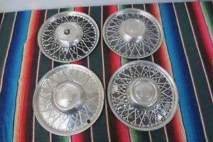 1940 s 1950 s Lyon Hubcap Co Hot Rod Rat Rod 15 Wheel Covers Hubcaps Set 4