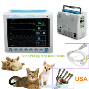 Cms8000 Vet Veterinary 12 1 Lcd 6 Parameter Icu Ccu Patient Monitor Ce Fda
