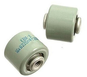 220pf 16 24kv High Voltage Ceramic Doorknob Capacitors Lot Of 2pcs