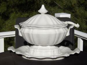 Red Cliff Heirloom Ironstone Soup Tureen With Ladle Underplate Exc