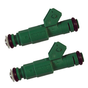 Green Giant Fuel Injectors Pair Of 2 42lb 440cc 0280155968 New