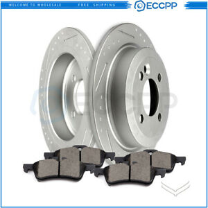 Fits 2002 2006 Mini Cooper 1 6l L4 2wd Rear Brake Discs Rotors Ceramic Pads